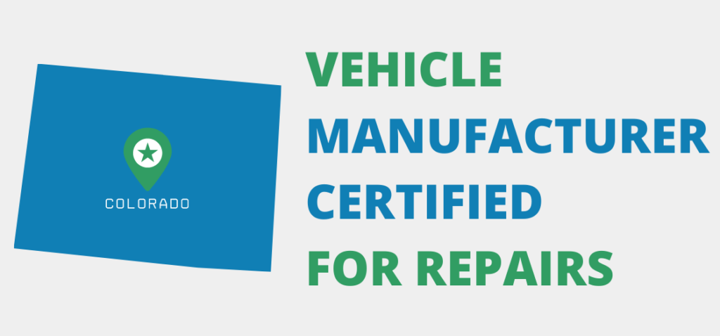 graphic showing that kaizen is vehicle manufacturer certified for auto glass repair