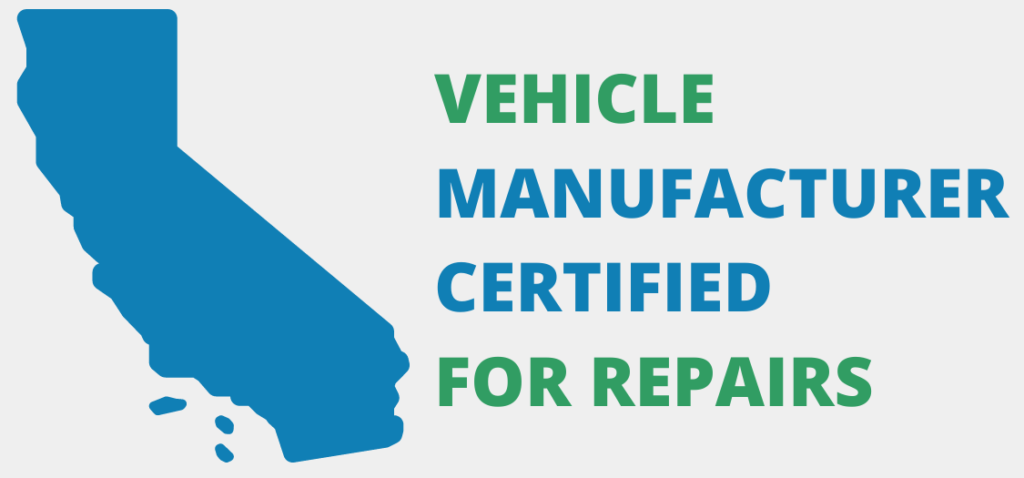 graphic showing kaizen is certified by vehicle manufacturers for auto glass repair